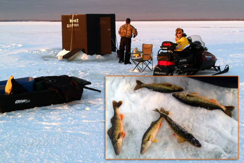 Curtis Michigan Ice-Fishing | Big Manistique Lake Ice-Fishing